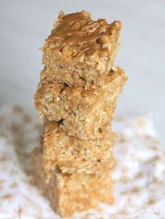 Cookie Butter Krispie Treats via The Baker Chick - these were awesome