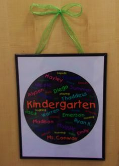 cool idea to hang in a classroom!