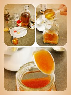 Cold remedy 2 tablespoons of water 1 tablespoon of cider vinegar (organic preferred) 1 tablespoon of honey (raw honey preferred) ¼ teaspoon of ginger powder ¼ teaspoon cayenne