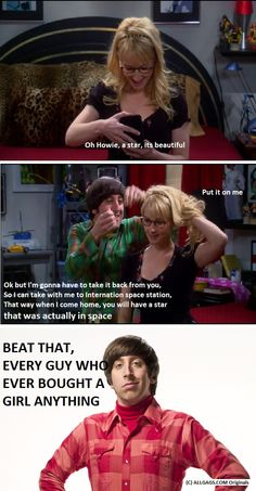 Howard Wolowitz star from space