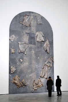 """Die Ordnung der Engel"" (""The Hierarchy of the Angels""; 2000), by Anselm Kiefer. Oil, emulsion, shellac, and linen clothes on canvas. Here on display at the Guggenheim Museum Bilbao."