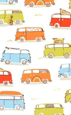 Heather Ross for munki munki  Camper Vans  by sweetfairyboutique, $11.25