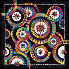 Enchanting Stars at BeColourful quilts by Jacqueline de Jonge.  Master class, 2014 festival of quilts, Birmingham (UK)