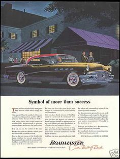 Red & Black Buick Roadmaster Vintage Car (1956)