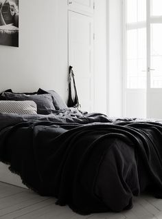 black cozy bedroom