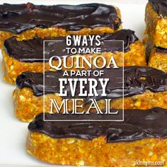 6 Ways to Make #Quinoa a Part of Every Meal, including these #quinoaproteinbars. #quinoarecipes