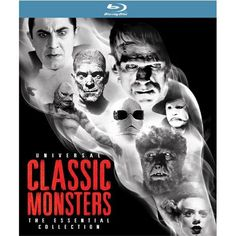I WANT!!!  Universal Classic Monsters: The Essential Collection [Blu-ray]: Boris Karloff, Bela Lugosi, Jr Lon Chaney, Helen Chandler: Movies & TV $140 on Amazon