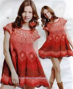 Crochet tunic/dress.... instructions in Spanish only!