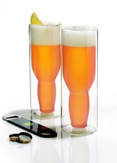 These glasses keep favorite brew icy cold without breaking a sweat... literally!