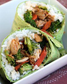 Chicken Teriyaki Spinach Wrap