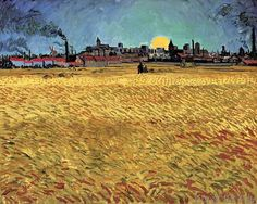 Vincent van Gogh - Sunset at Wheat Field near Arles