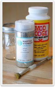 Glitter it! Mod Podge mixed with glitter.