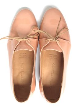 pale pink nude oxfords