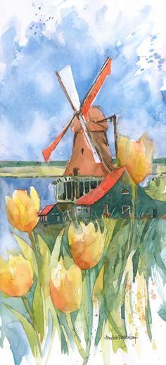 Dutch Vignette « Annelein Beukenkamp Watercolors