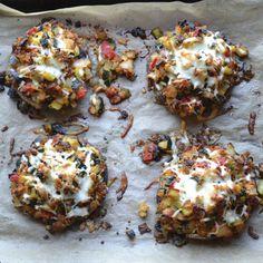 Vegetable Stuffed Portabella Mushrooms | @tasteLUVnourish | #portabella #mushroom #vegetarian
