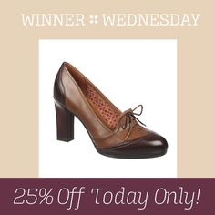 The votes are in: Ariana is the winner! Get it now for 25% off, today only with code SHOESDAY! #WinnerWednesday