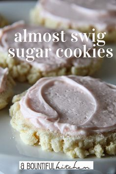 Almost Swig Sugar Cookies.  How to make the famous Swig Cookie at home!