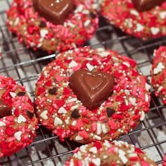 Valentine's Day Sprinkles Cookies - Sweet Treat Eats