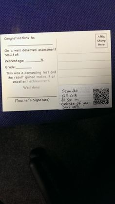 QR Codes on postcards for teachers and students - oh the possibilities ;) - https://twitter.com/tombrush1982/status/389790271120347136/photo/1