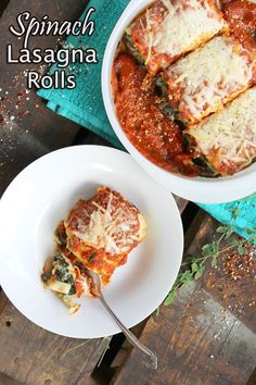 Simple Spinach Lasagna Rolls