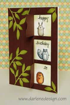 Furry Folk in Windows- Part 2 with Copics by darlenedesign - Cards and Paper Crafts at Splitcoaststampers