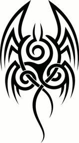 Triskel dragon maori