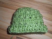 Cross Crochet Stitch Preemie Hat free    pattern