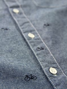 Native Youth Bike Print Denim Shirt at Coggles