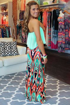 Cute maxi skirt and top!