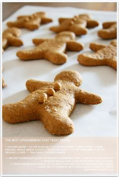 The Best Ever Gingerbread Dog Treat Recipe I always make my dog treats for Christmas, now finally i actually have treats that fit the holiday