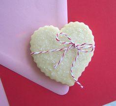 Shortbread Valentine Heart Cookies