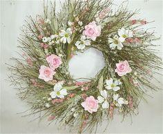 Rustic Dogwood Wreath Spring Door Wreath