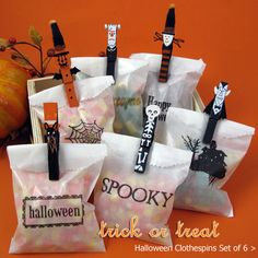 love the Halloween clothes pins