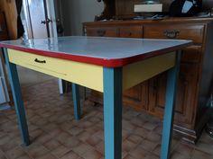Vintage Enamel Table $150.00