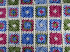 Spring Garden Blanket by Frankie Brown #crochet