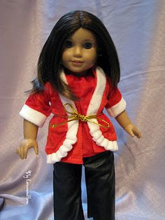 No Sew Doll Holiday Clothes from the Dollar Store! From a wine bottle cover #tutorial