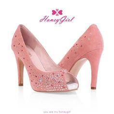 Wide Width Womens Heels Rhinestone Blue Pink Cone Heel Special