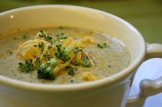MacaRona & Sweet Tea: Soup's On: Creamy Broccoli Cheese Soup