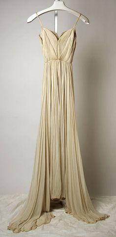 1935 flowy silk gown.