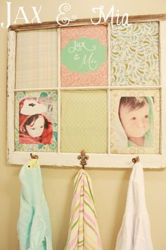 DIY Window Towel Rack - add hooks to the bottom of a PLAIN window frame instead of the current towel rack. Want this!