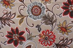 Richloom Avery Printed Cotton Drapery Fabric in Spice $3.95 per yard