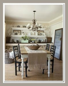 This is one of the many spaces you can find in a book by Fifi ONeill, called Romantic Prarie Style: Homes Inspiered by Traditional Country Life.