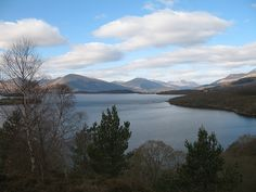 Loch Lomond in Scotland is beautiful.