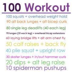 100 strength workout.