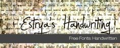 All great free handwriting fonts to download @tripwiremagazine.com