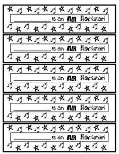 These cute black and white printables can be used to keep track of how many AR tests have been passed by each student.