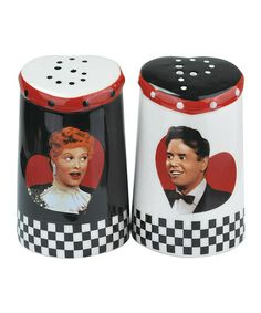Take a look at this Lucy & Ricky Salt & Pepper Shakers by Westland Giftware on #zulily today!