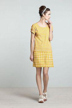 Textured Hoop Dress #anthropologie