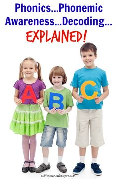 What Do Phonics, Phonemic Awareness and Decoding Mean?
