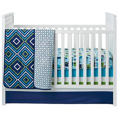 """Happy Chic Baby by Jonathan Adler - Charlie Elephant Printed Crib Sheet - Happy Chic Baby by Jonathan Ad - Babies """"R"""" Us"""